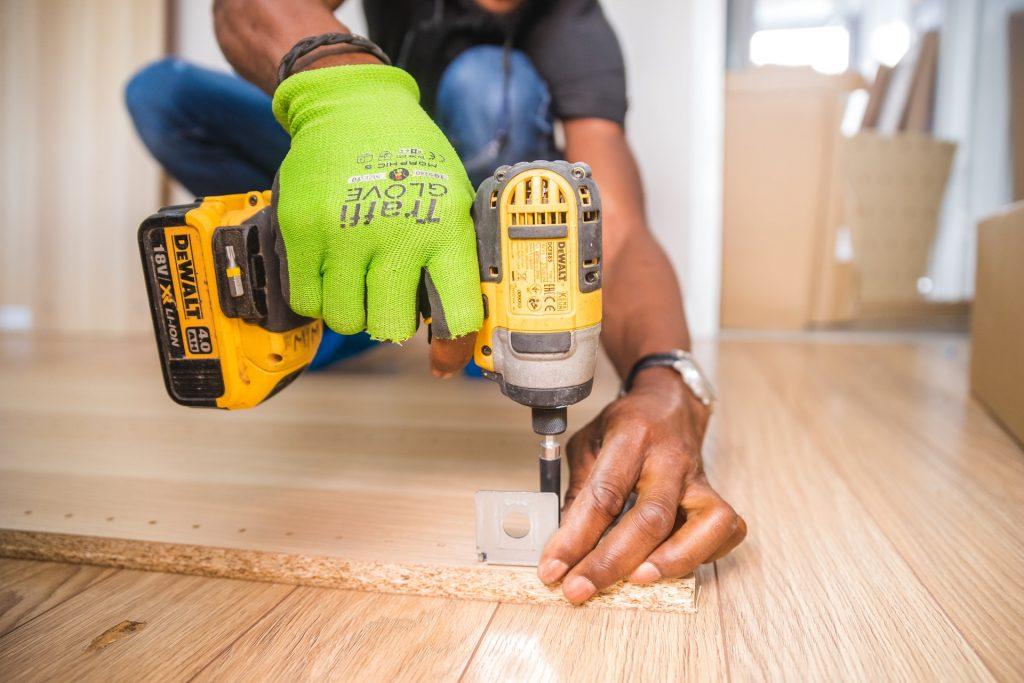 DIY at gift acres-drilling